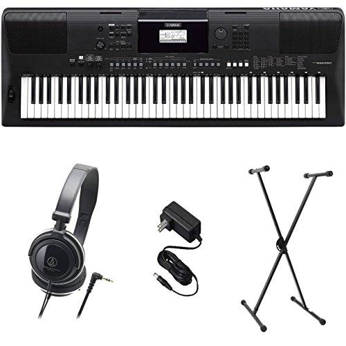 Yamaha PSR-EW410 PKS Premium Pack de teclado con fuente de alimentación, soporte y auriculares
