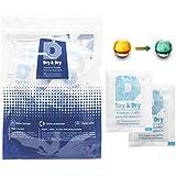 Dry & Dry 5 Gram [120 Packs] Food Safe Silica Gel Orange Indicating(Orange to Dark Green) ...