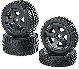 Carson 500900027 - 1:10 Reifen/Felgen-Set All Terrain, Modellbauzubehör, schwarz -