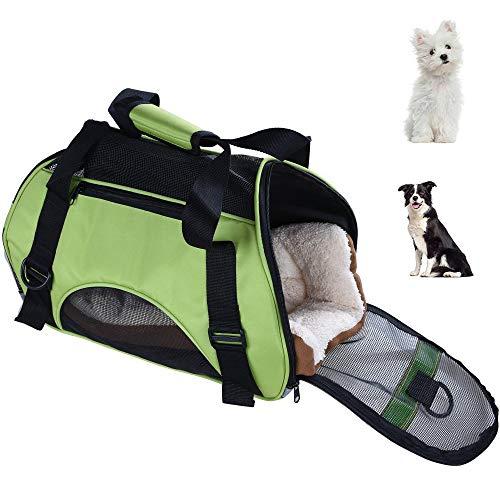 LANGYINH Pet Carrier Hond Kat Travel Carrier Geventileerde Zachte Zijde Draagbare Vliegtuig Tas Rugzak Opbergtas, Comfortabel & Veiligheid