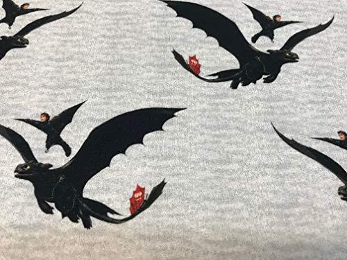 textil pertex DRAGONES Baumwoll-Sweatshirtstoffe x 1 MTS