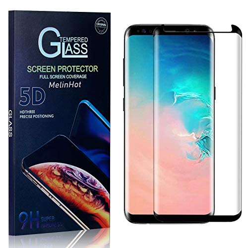 MelinHot Displayschutzfolie für Galaxy S8, 9H Härte Schutzfilm aus Gehärtetem Glas, Anti Bläschen Displayschutz Schutzfolie für Samsung Galaxy S8, 1 Stück