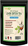 Organic Dandelion Root Tea with Milk Thistle, Burdock Root, Licorice Root, Barberry Root, Fennel...