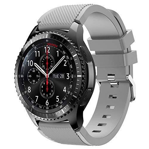 Vozehui Armband Kompatibel mit Samsung Gear S3 Frontier/Gear S3 Classic/Galaxy Uhr 46 mm/Huami Amazfit 2 / Huawei Uhr GT/Huawei Uhr 2 Pro Smartwatch, 22 mm Sportarmband aus weichem Silikon