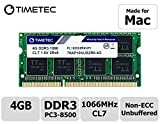 Timetec Hynix IC compatible with Apple 4GB DDR3 PC3-8500 1066MHz Memory Upgrade For selected iMac, MacBook Pro, Mac mini (4GB)