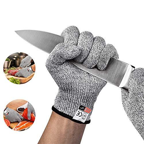Schnittschutzhandschuhe, Schnittfeste Handschuhe, Arbeitshandschuhe, Schutzhandschuhe, Schutzstufe 5, Sicherheits Küche und Schnitthandschuhe für den Außenbereich (X-Large)