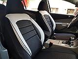 seatcovers by k-maniac Peugeot 208, universales, Color Blanco y Negro, Fundas para Asientos Delanteros, Accesorios de Coche, Interior V1034339