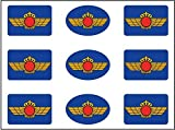 Artimagen Pegatinas Rectángulos Logotipo Ejército del Aire 9 uds. 16x11 mm/ud.