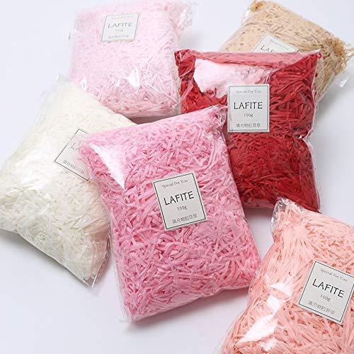 CIVIKY 200 gramos de papel de seda triturado de rafia multicolor de confeti cesta triturar regalo de relleno de embalaje suministros para fiesta