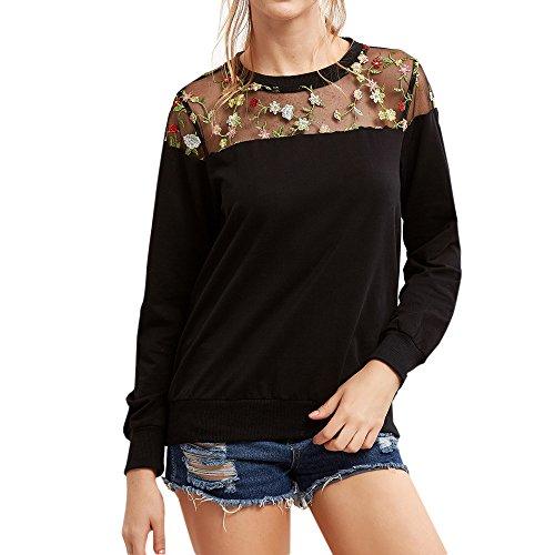 ESAILQ Bekleidung Damen nicht zutreffend t- shirt schwarz groß