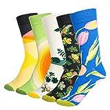 Vordas Welecoco Coton Chaussettes Thermiques Chaussettes Adulte Unisexe Chaussettes,5 Paires Chaussettes Femme Homme(Taille de l'UE 37-45)