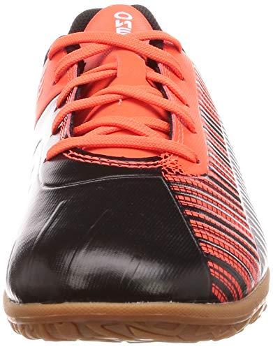PUMA Unisex Kids ONE 5.4 IT Jr Futsal Shoes, Black Black-Nrgy Red Aged Silver-Gum, 11 UK Child