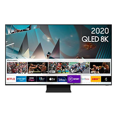 "Samsung 2020 65"" Q800T QLED 8K HDR 2000 Smart TV with Tizen OS"