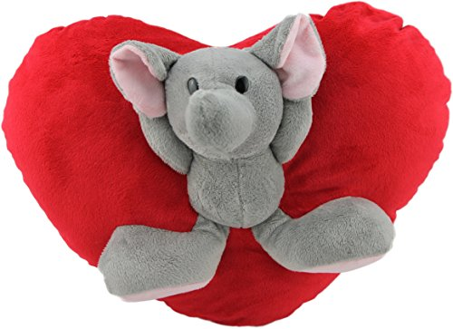 Brandsseller, cuscino 3D per bambini, Poliestere, rosso/grigio, 23x38