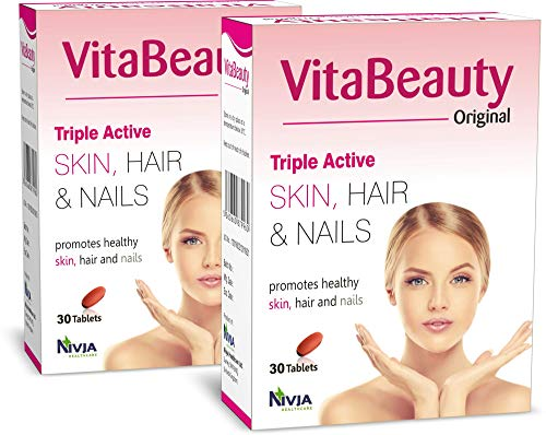 Supplement for Skin, Hair and Nail - VitaBeauty Original – – 60 Tablets (30 tab x 2 Boxes)