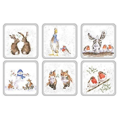 Pimpernel Wrendale - Set di 6 sottobicchieri natalizi, codice prodotto: X0010268976