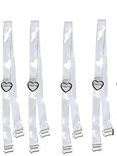 SAMAGYA Women's Transparent Straps For Bras And Slips (Free Size)