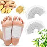 Maguja Foot Pads-100Packs Relief Stress Ginger Foot Pads and Cleansing for Foot Care, 100 Adhesive Sheets for Removing Impurities Suitable for Travel or Home use ( White)