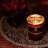 LA JOYERIA Vela de cera de soja pura en té con aroma de rosas y pétalos de rosa con tarro de cristal. 44 horas de combustión, ideal para regalo, cenas a luz de velas y decoración del hogar.