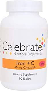 Celebrate Iron + C 60 mg chewable Berry - 90 Count