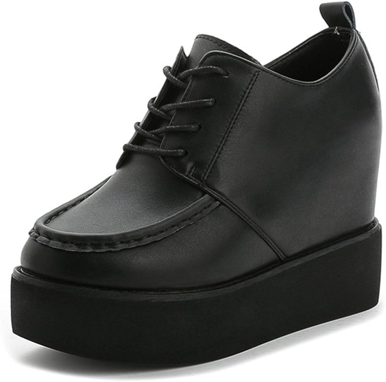 Btrada Hidden Heel Women's Casual Wedge Sneakers Platform Fashion Daily Sneakers