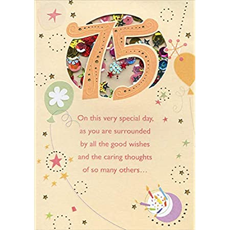 75 YEARS OLD HAPPY BIRTHDAY HALLMARK GREETING CARD STAY AT HOME CARD SERVICE