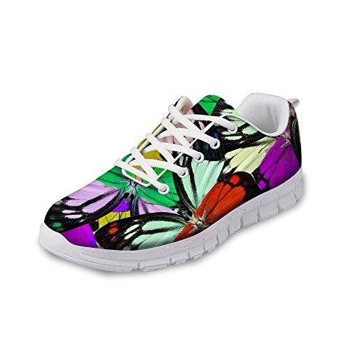 Bigcardesigns Fashion Sneakers Men Women Lace-ups Sport Shoes Butterfly Print Tennies Shoes Lightweight Size 9 B(M) Women-6.5 D(M) Men-EUR 39