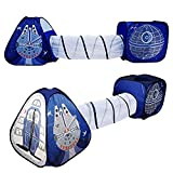 Tunnel Tent for Kids, 3pc, Toy Crawl Play Tent, Indoor/Outdoor Playhouse, Spaceship Tent Set, Boys and Girls Best Birthday Gifts