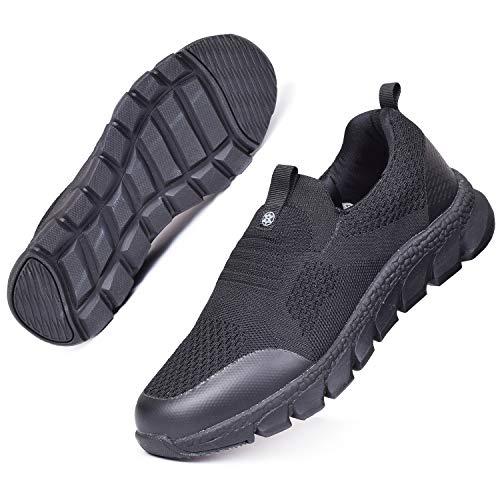 Zapatillas Deportivas Mujer Zapatos Deporte Gimnasio Cómodos Zapatillas de Running Ligero Fitness Zapatos de Trabajo Zapatillas Casual Sneakers Negro DQ 41EU