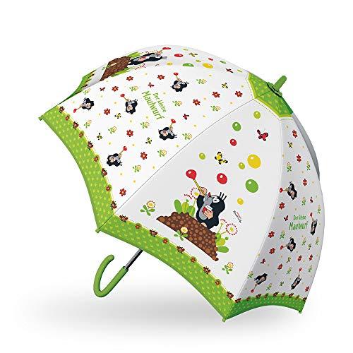 Trötsch Der kleine Maulwurf Regenschirm Maulwurf grün: Kinder Regenschirm