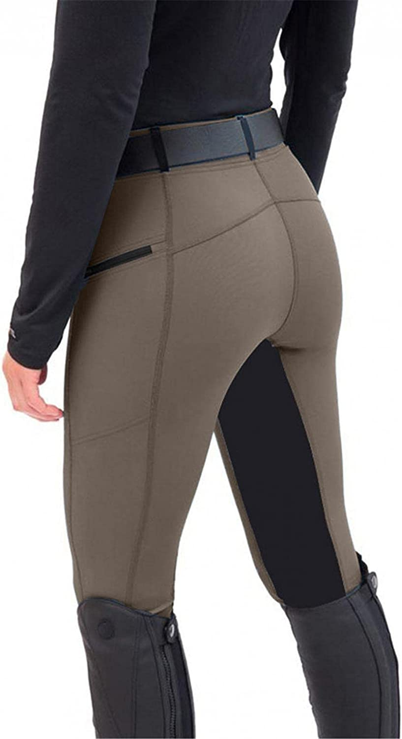 Women's Horse Riding Pants Breeches Exercise High Waist Slim Sports Patchwork Equestrian Trousers Yoga Leggings Tights