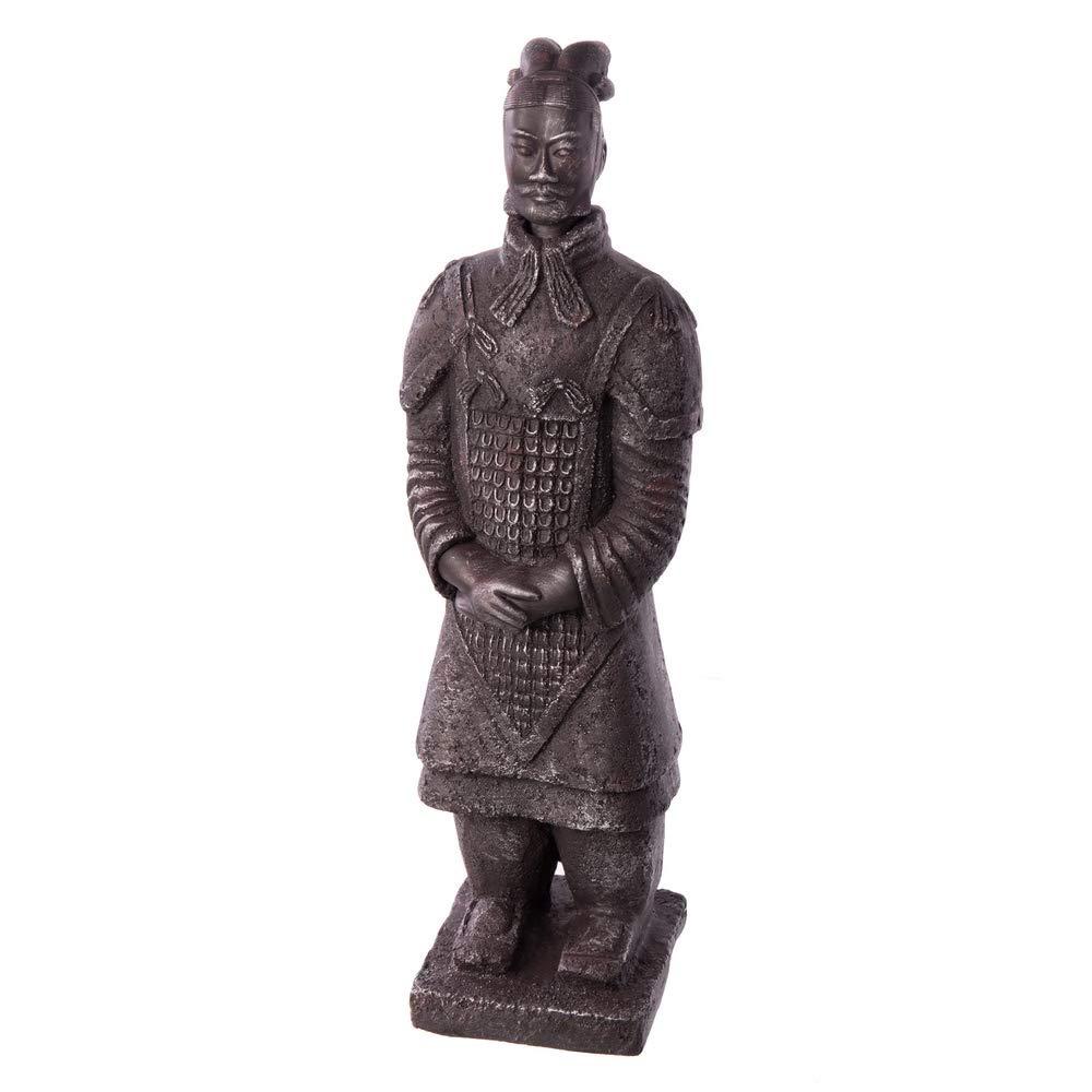 Figura de Guerrero de cerámica Gris Oriental para decoración de Exterior - LOLAhome: Amazon.es: Hogar