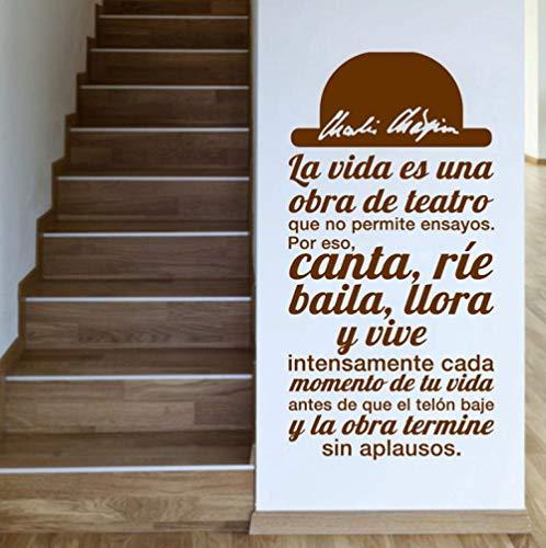 Pegatinas Pared Murales La Vida Es Una Obra De Teatro Art Living Room Home Decor 78X40 cm