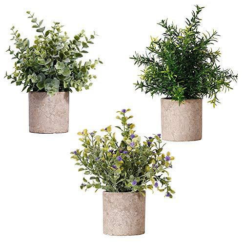 観葉植物 人工観葉植物 フェイクグリーン フェイクフラワー 鉢植え 造花 人工植物 インテリア 飾り 簡単世話いらず 水やり不要 オフィス ホーム デコレーション (3個セット)