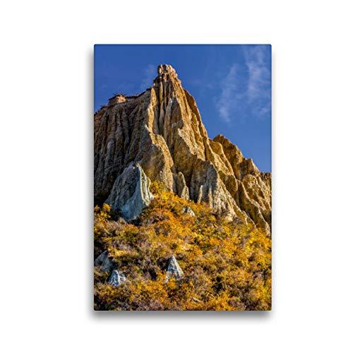 Premium Textil-Leinwand 30 x 45 cm Hoch-Format Morgen an den Omarama Clay Cliffs, Neuseeland | Wandbild, HD-Bild auf Keilrahmen, Fertigbild auf hochwertigem Vlies, Leinwanddruck von Stefanie Pappon