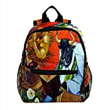ColorMu Mini mochila para computadora portátil, bolsa para computadora portátil para mujeres Libro de vaca Bull Silla de mimbre para el trabajo, escuela, al aire libre