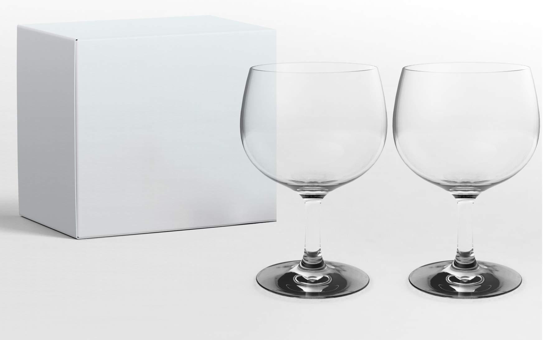 Pack 2 copas balón de cristal para GinTonic: Amazon.es: Hogar