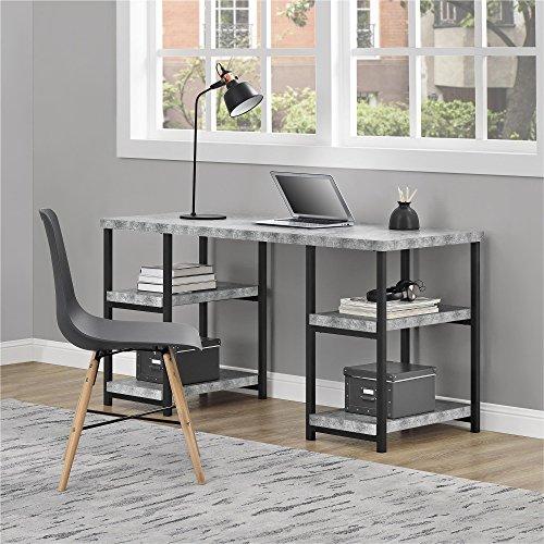 Ameriwood Home Ashlar Desk, Concrete Gray