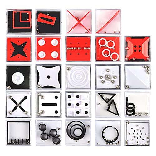 THETHO Set de 24 Puzzles Mini Juegos Rompecabezas Set Juegos con Niveles Diferentes Perfectos para Regalos de Fiesta Juegos de Habilidad para Adultos o Niños