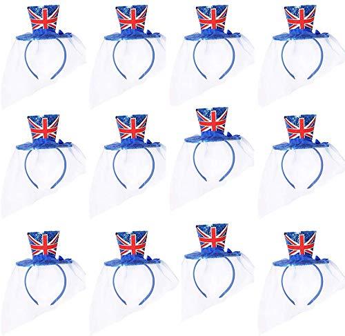 I LOVE FANCY DRESS LTD Accesorio DE Disfraz Mini Sombrero Azul con IMPRESIN DE Bandera Inglesa Accesorio TEMATICO Fiestas O Disfraces TEMATICOS para Adultos (12 Unidades)