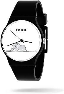 Panapop | Kid Vision | Orologio da polso da donna | Cinturino nero in silicone | Il Piccolo Principe | Le Petit Prince | L...