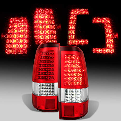 [C-Shape Full LED Estilo] 2003200420052006Chevy Silverado | 2004–2006GMC Sierra faros…