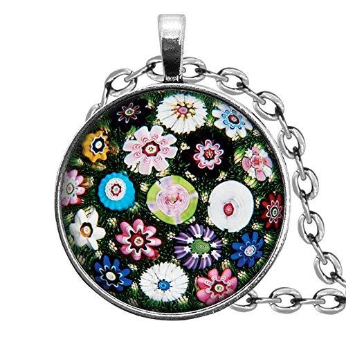 Flower World - Exprimidor de Papel de Cristal, Imagen de Alta resolución de Baccarat para Collar,