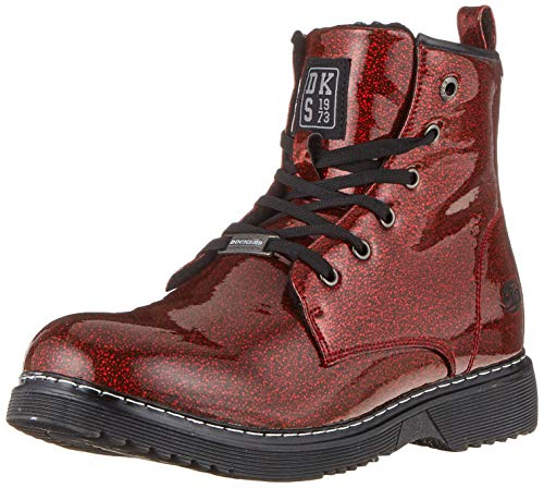 Dockers by Gerli Unisex-Kinder 43CU734 Combat Boots, Rot (Rot/Multi 707), 38 EU