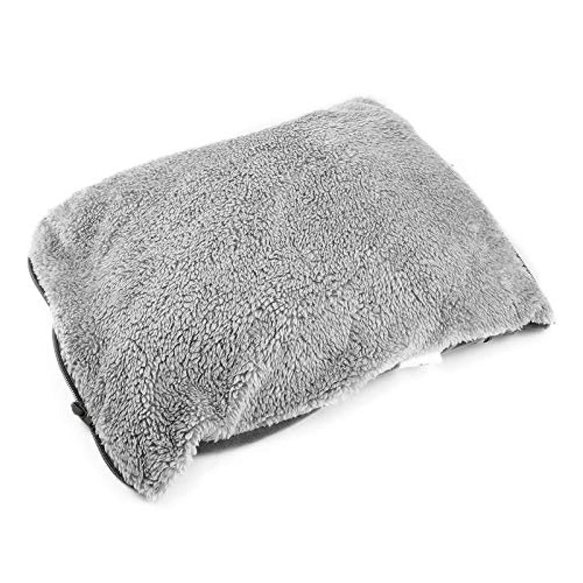 誘惑する細部疲れたシンプルなデザインのUSB充電冬のハンドウォーマー実用的な快適な柔らかい電気暖房暖かいパッドクッション最高の贈り物 - グレー