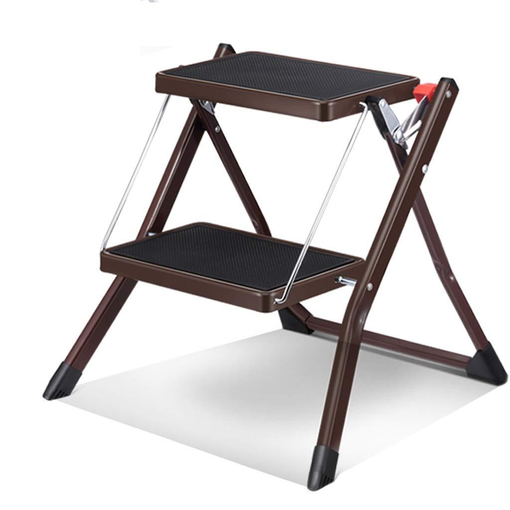 LXRZLS Escalera de aluminio plegable de 2 escalones Escalera de tijera mini con escalera de acero antideslizante robusta y de pedales anchos para fotografía, hogar y pintura. Capacidad de almacenamien: Amazon.es: Hogar