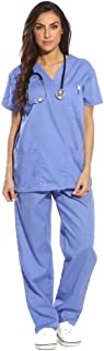 Just Love Women's Scrub Sets Six Pocket Medical Scrubs (V-Neck with Cargo Pant), Ceil, 2X