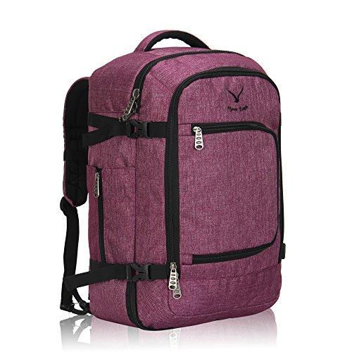 Veevan Damen Herren Flugzugelassenes Wasserabweisend Reisegepack Handgepäckkoffer Handgepäck Rucksack 51x34x25cm 40 Liter Rotviolett