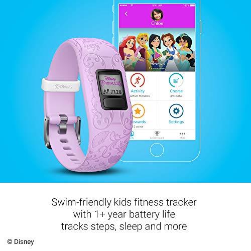 Garmin Vívofit Jr 2, Kids Fitness/Activity Tracker, 1-year Battery Life, Adjustable Band, Disney Princess, Purple