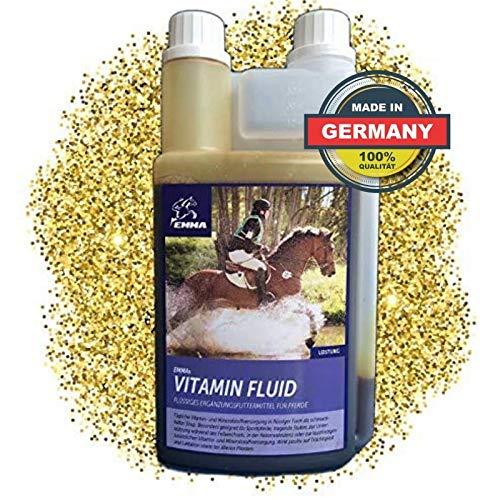 EMMA Vitamin Liquid für Pferde I B Komplex B12, B6, B2, B1 I Vitamin E, A, D3 Zink Selen Lysin Eisen Pferd I Mineralfutter Pferd 1 Liter